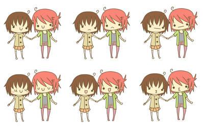 Aoi and Hoshi Flele wip