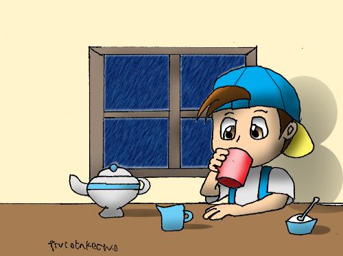 Tea and Rain by Trurotaketwo