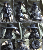 Patchwork Plague Doctor Doll by bezzalair