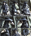 Patchwork Plague Doctor Doll