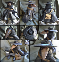 Leather Plague Doctor Doll by bezzalair