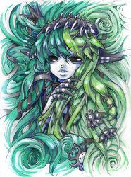 Monsterous Hair by bezzalair
