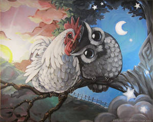 Morning Rooster and Night Owl