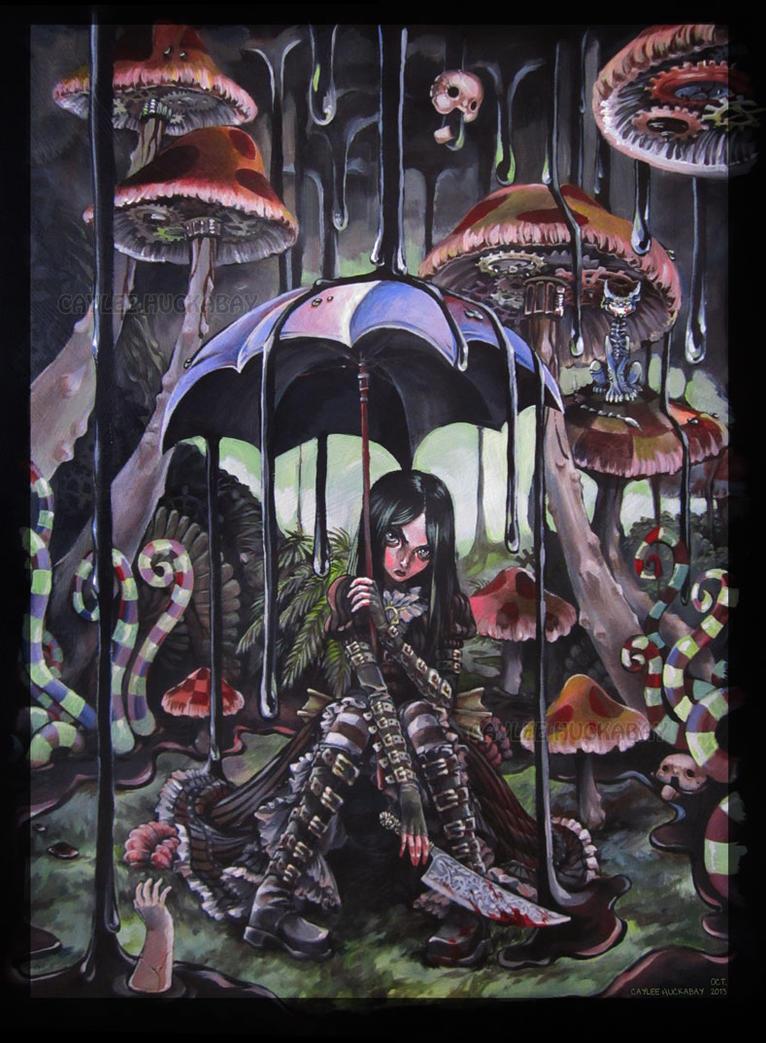 Gooey Raindrops by bezzalair