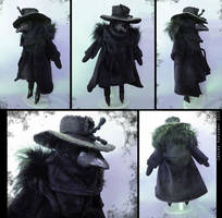 Raven Plague Doctor Doll by bezzalair