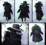 Raven Plague Doctor Doll