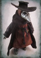 Sititch Plague Doctor Doll by bezzalair