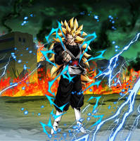 Goku Black Super Saiyan 3 Legends Style