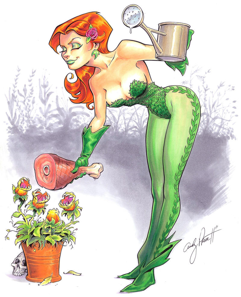 poison_ivy_gardening_by_andypriceart-d3c