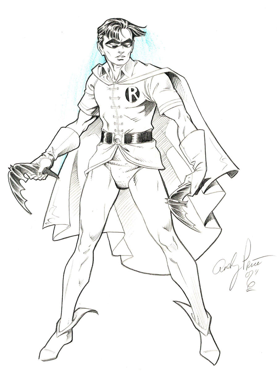 coloring pages batman robin - photo #5