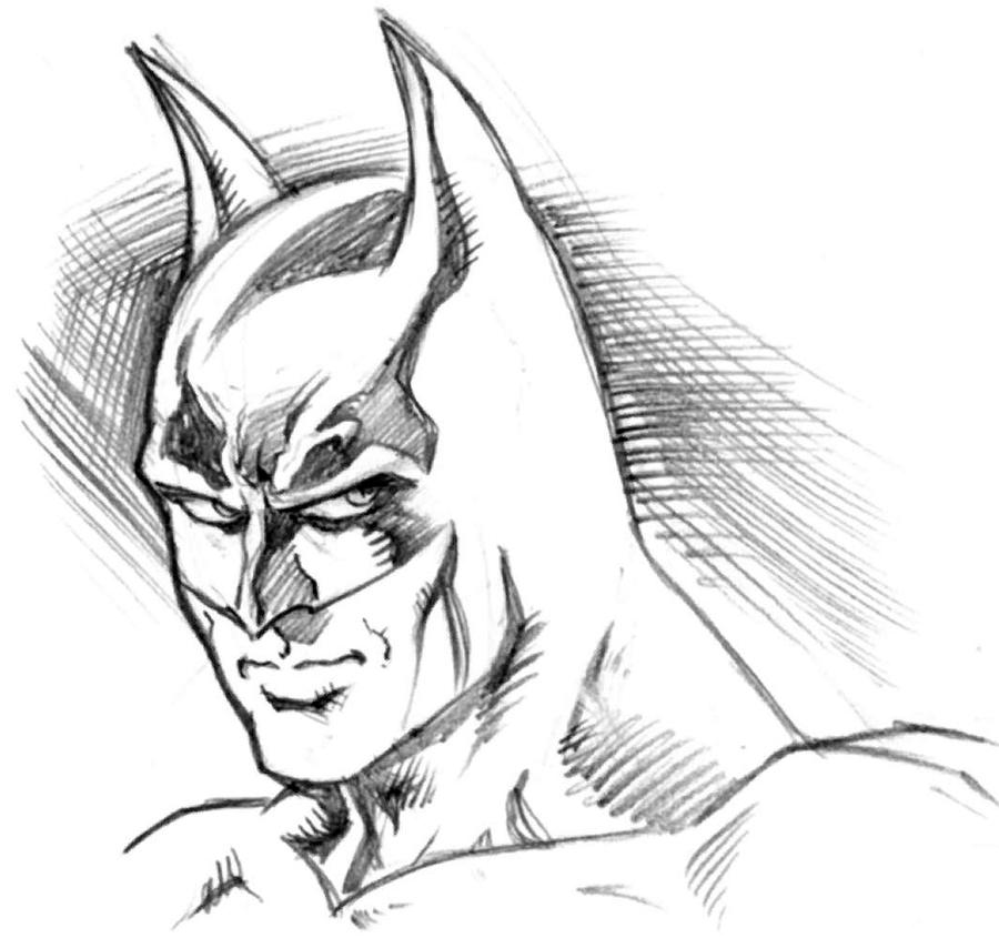 Batman Head Sketch By Andypriceart On DeviantArt