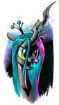 Changeling Chrysalis marker sketch, My Little Pony