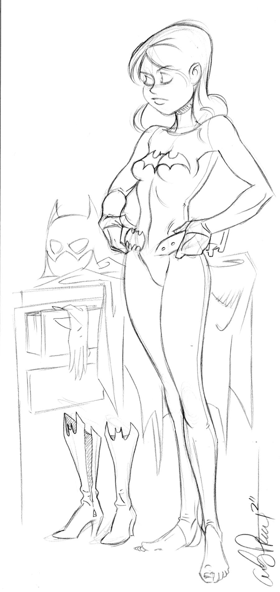 Batgirl dressing by andypriceart