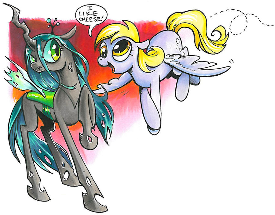 Derpy and Chrysalis, My little pony by andypriceart