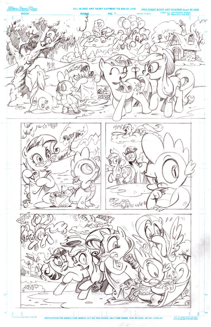 My Little Pony Sequential page pencils by andypriceart