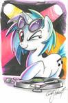 Vinyl Scratch marker sketch, My Little Pony