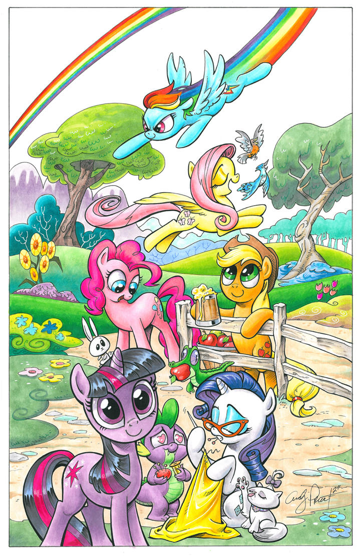 The Mane 6 My Little Pony by andypriceart