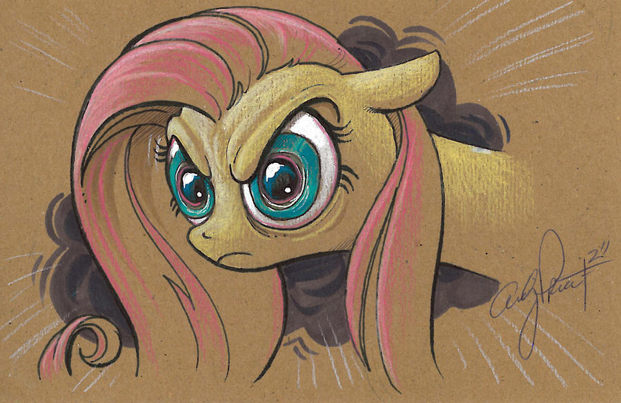 the Fluttershy STARE by andypriceart