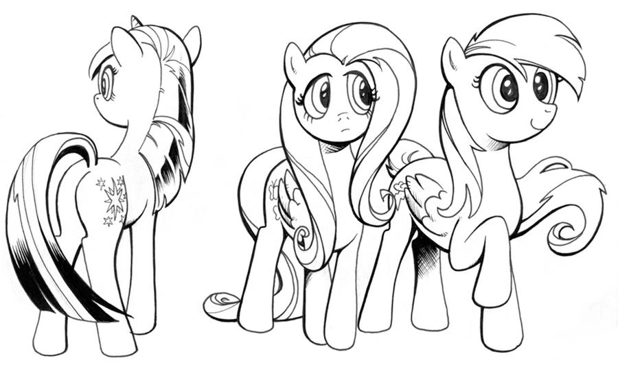 Ink Studies My Little Pony By Andypriceart On Deviantart