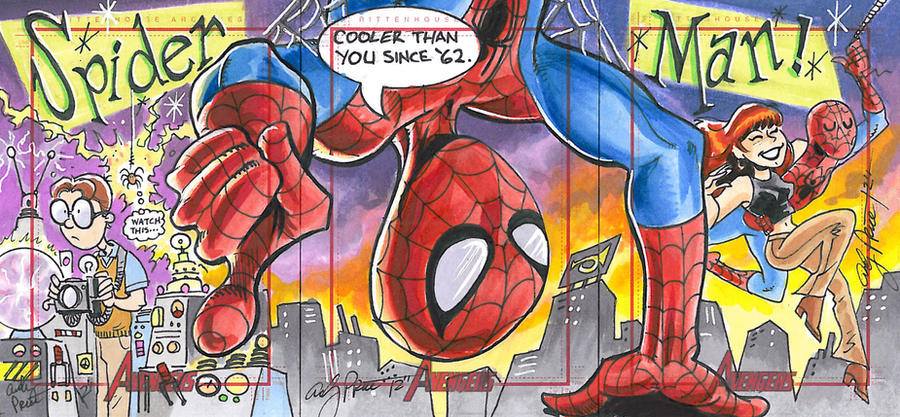 Spider-Man three card puzzle by andypriceart