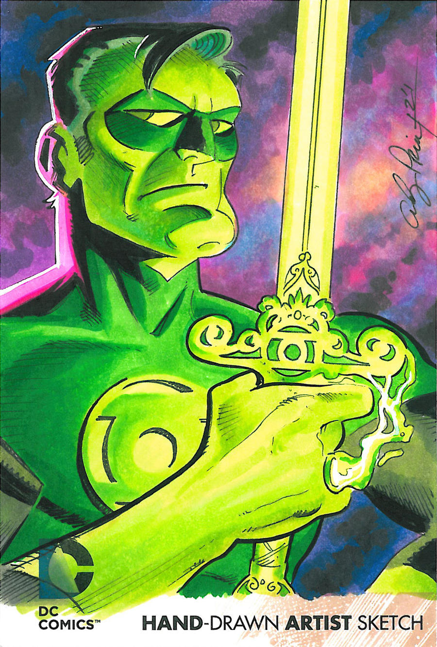 Green Lantern oversized sketch card by andypriceart