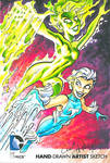 Fire And Ice DC Oversized Sketch Card
