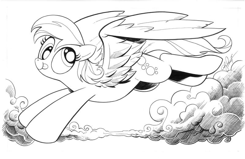 Derpy the wonder pony by andypriceart
