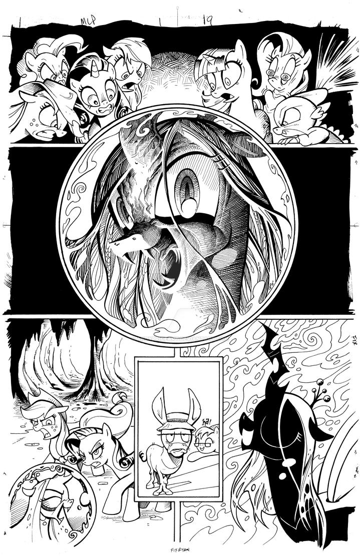 Queen chrysalis returns inks my little pony by for Queen chrysalis coloring pages