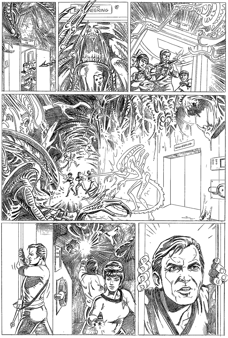 Star Trek/Aliens page 3 by andypriceart