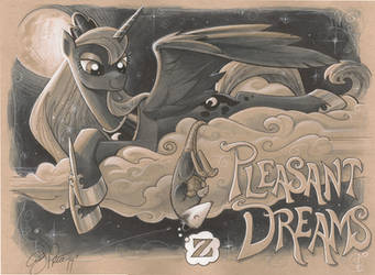 Luna and Tiberius Pleasant Dreams by andypriceart