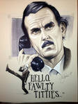Fawlty Towers grayscale commission
