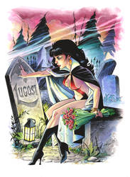 Vampirella Big Wow art in Color by andypriceart