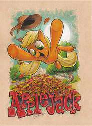 Applejack pin up