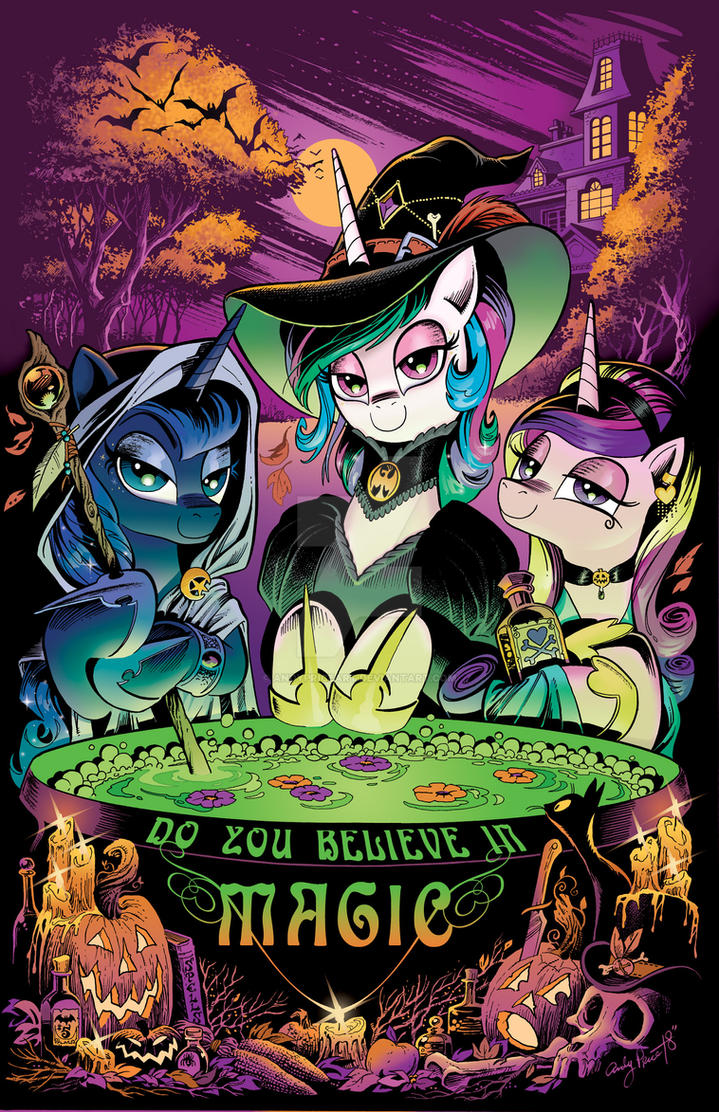 MLP Issue 71- The Three Witches of Halloween by andypriceart