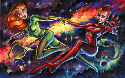 the Phoenix force: Jean and Rachel