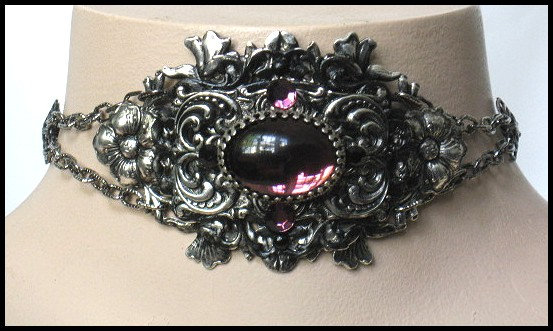 Lila Choker by ~enchantadorn on deviantART :  costume jewelry elegant women gothic