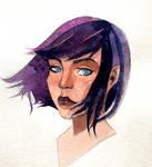 purple hair by MokkoFisher