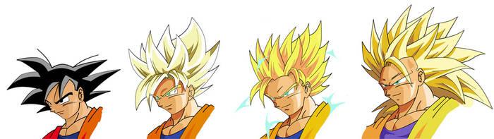 4 Gokus by Vanesshenron