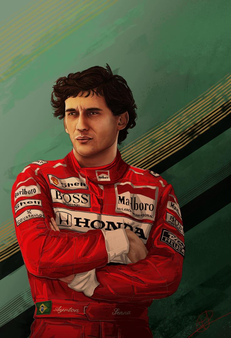 Ayrton Senna by PatheticMortal
