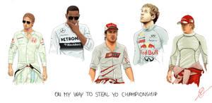 F1 World Champions on the grid
