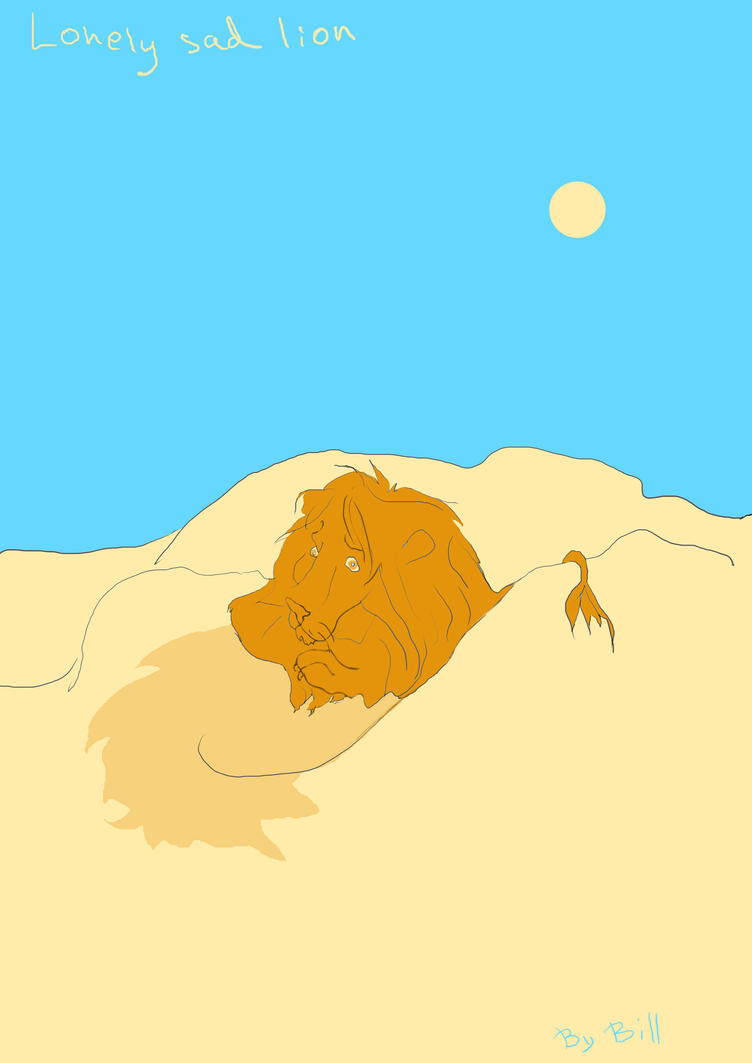 lonely lion by Alooockhard