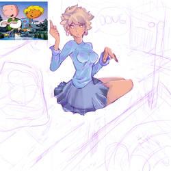 Coloring Patti Mayonnaise / Maionese (Doug Funnie) by kobolddoido