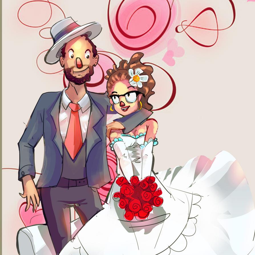 Diego e Juliana  Wedding invitation draw by kobolddoido