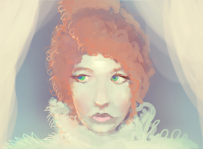 Redhair study by kobolddoido