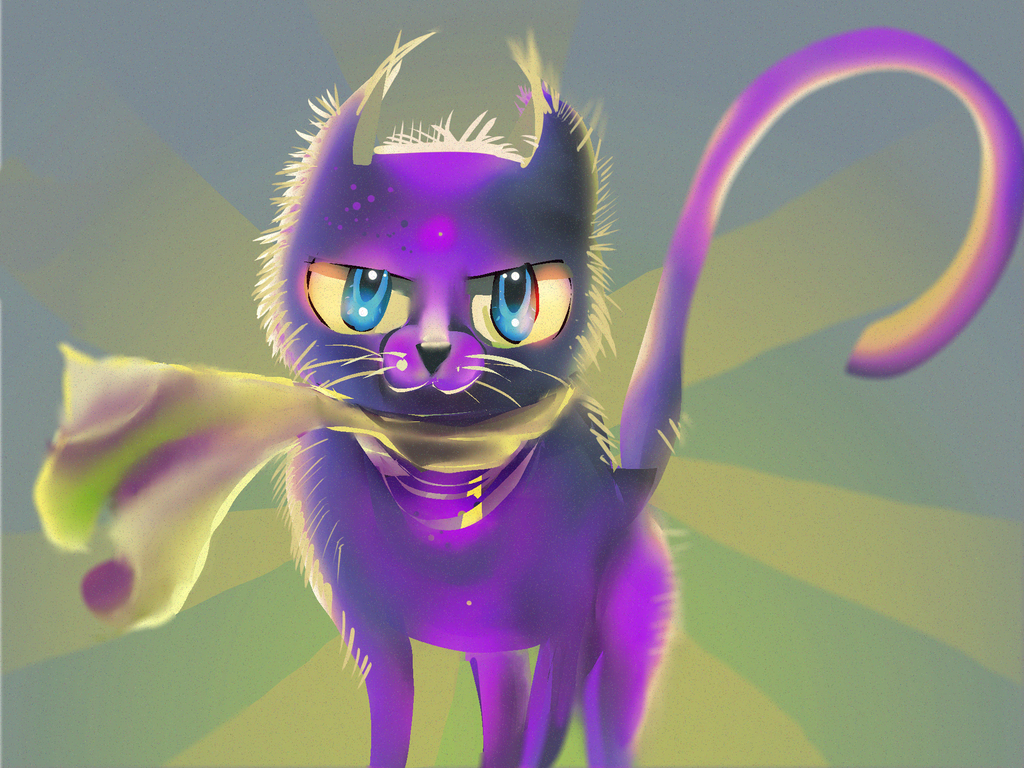 Purple Cat by kobolddoido