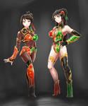 Xingcai and Guan Yinping,the Empress` bodyguards