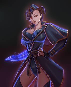 Shadowloo Chun-Li in Falke outfit