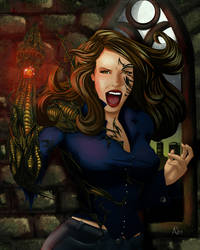WitchBlade by InkCell-Illustration