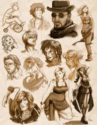 Sketchin'  DUMMPPP by InkCell-Illustration