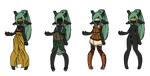 deyana custom outfits by tenchibaka